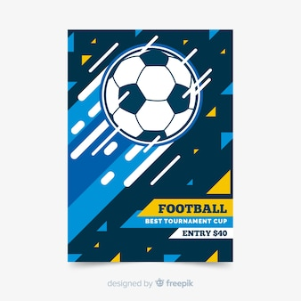 Sport poster template with football ball
