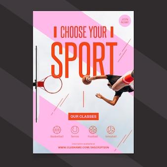Modello del manifesto di sport