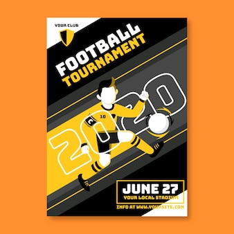 Sport poster template