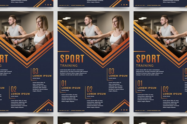 Sport poster with photo