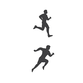 Sport run silhouette vector icon illustration design