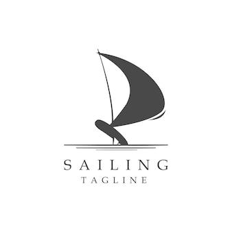 Спортивный парусный спорт логотип иллюстрации