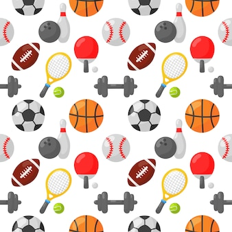 Sport seamless pattern icons