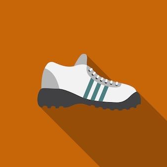 Спортивная обувь плоский значок иллюстрации изолированных вектор знак символ