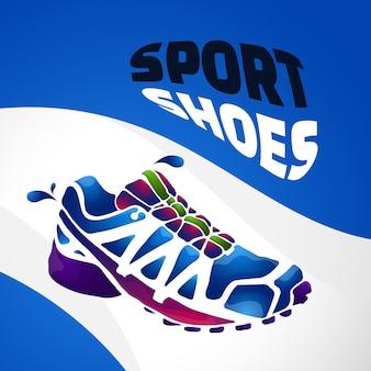 Sport shoes splash