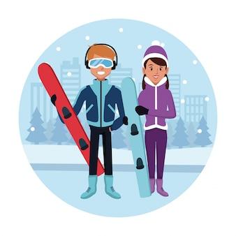 Спортивный сноуборд