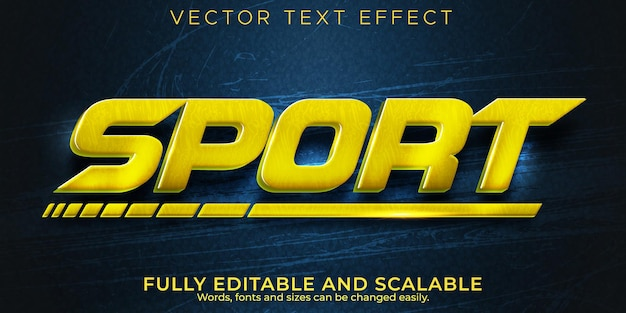 Sport speed text effect, editable racer and fast text style