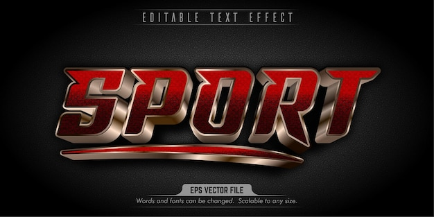 Sport style editable text effect