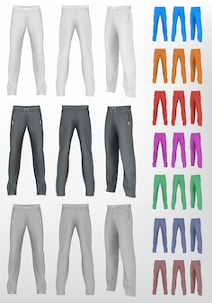 Sport sweatpants set. isolated background