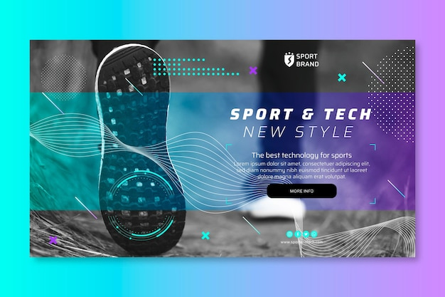 Sport and tech banner template