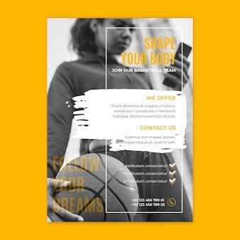 Sport and tech flyer template