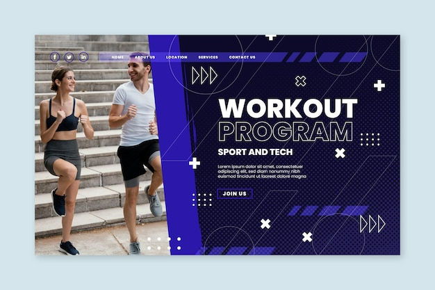 Sport and tech landing page template