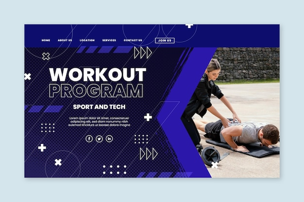 Sport and tech landing page