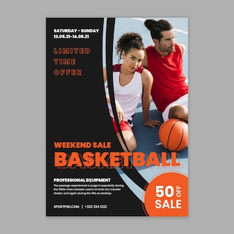 Poster sportivo e tecnologico