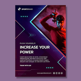 Sport and tech vertical flyer template