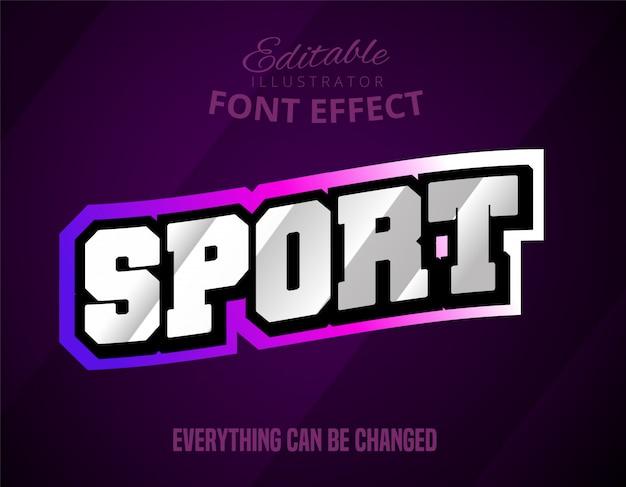 Sport text, editable font effect Premium Vector