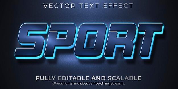 Спортивный текстовый эффект редактируемый стиль игры и игры