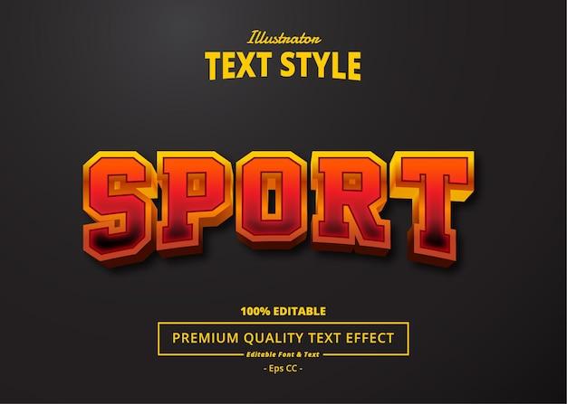 Sport text effect