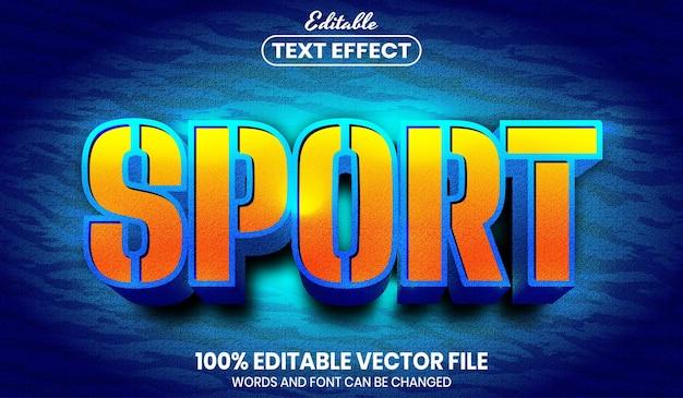 Sport text, font style editable text effect