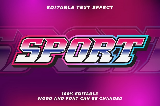 Sport text style effect
