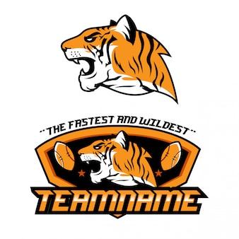 Sport themed tiger logo