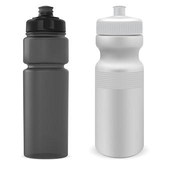 スポーツウォーターボトル。プラスチック製のジムボトル。