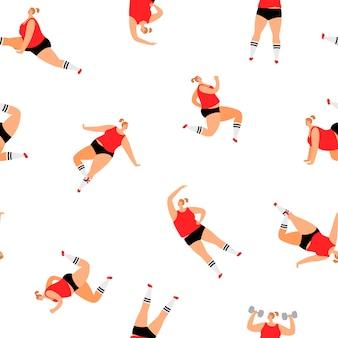 스포츠 여자 패턴