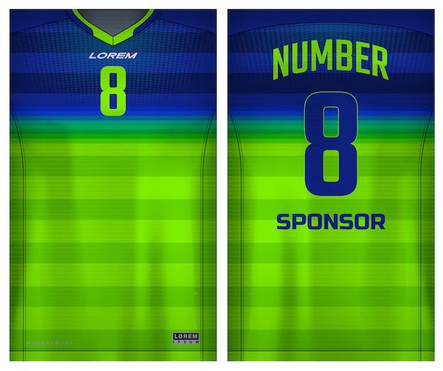 Ткань текстильная для футболки sport, футбольный трикотаж для футбольного клуба. равномерный вид спереди и сзади.
