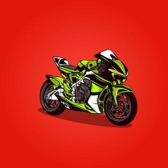Sportbike motorcycle motorsport dark  illustration