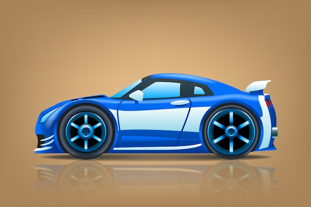 Sportcar blue