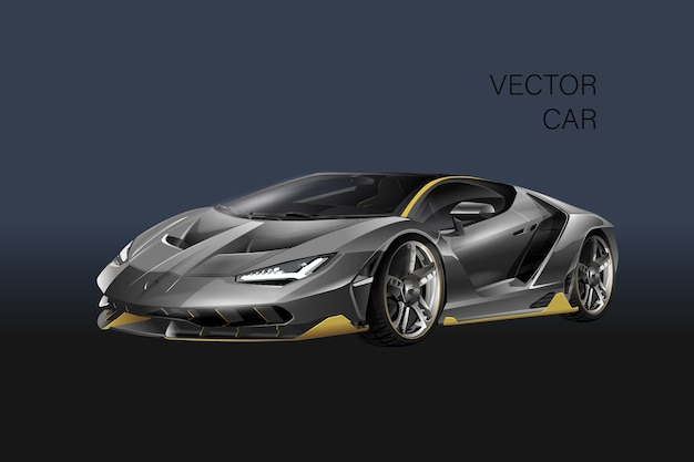 Sporting car illustration