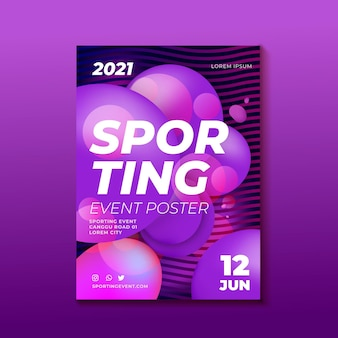 Sporting event poster design