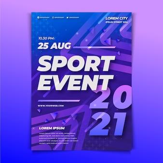 Modello di manifesto di eventi sportivi per il 2021