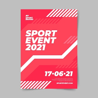Sporting event poster template minimalist design