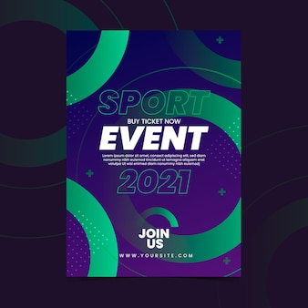 Sporting event poster template