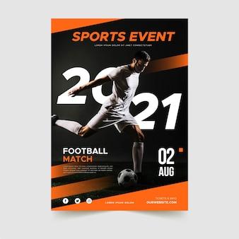 Modello di manifesto di eventi sportivi