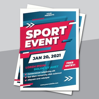 Sporting event poster