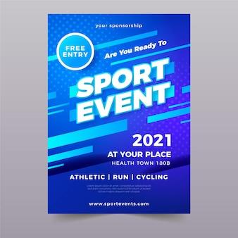 Modello di evento sportivo per poster