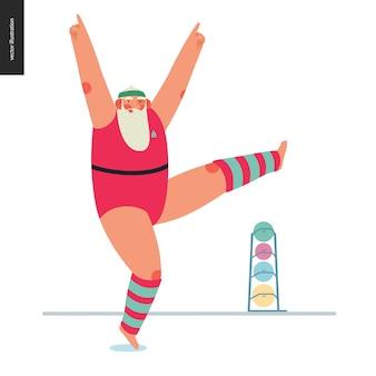 Sporting santa - aerobics