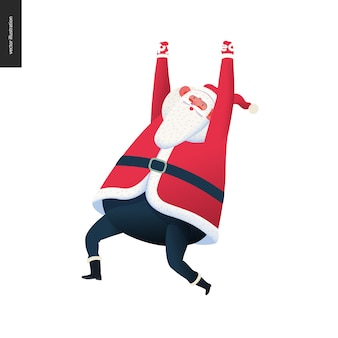 Sporting santa - hanging