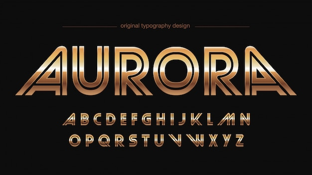 Sports abstract gold typography