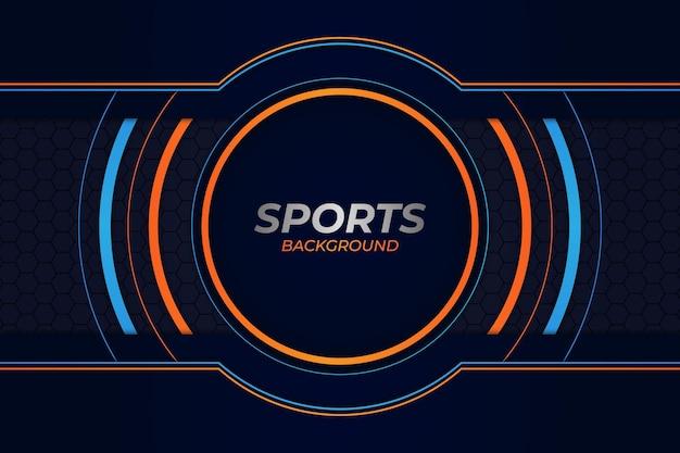 Спортивный фон синий и оранжевый стиль
