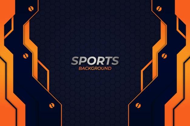 スポーツの背景青とオレンジのスタイル
