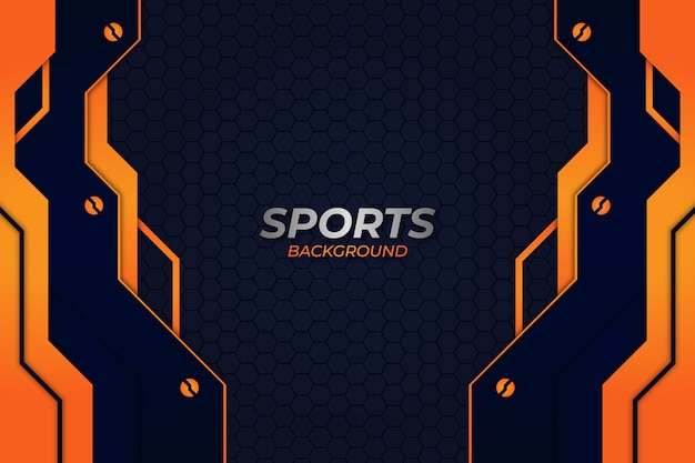 Sports background blue and orange style