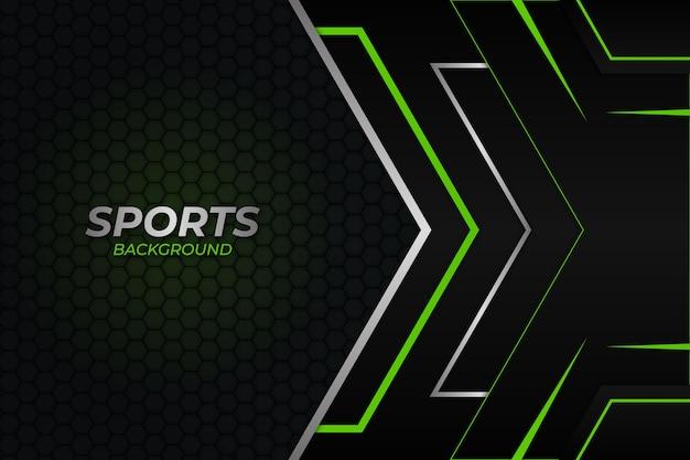 スポーツの背景ダークとグリーンスタイル