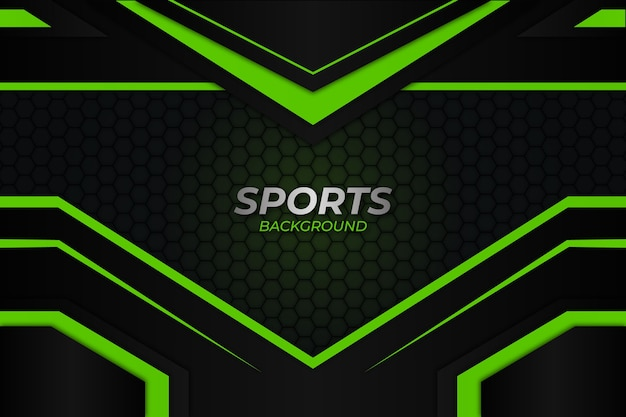 Спортивный фон темно-зеленый стиль