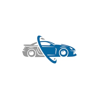 Sports car logo template or icon