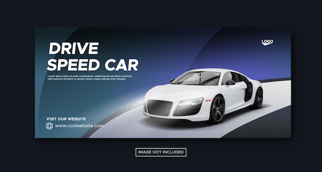 Sports car sale promotion social media post template
