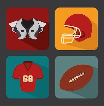 Спортивный дизайн, векторные иллюстрации.
