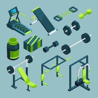 Sports equipment for gym.